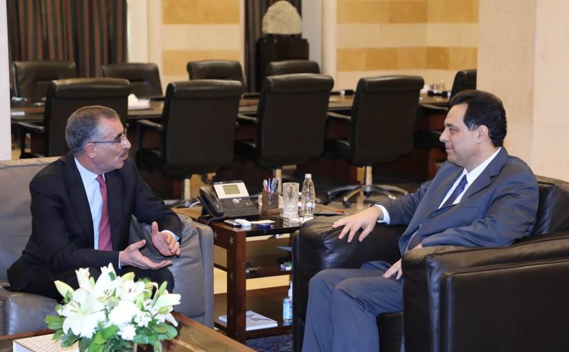 Pr Minister Hassan Diab meets Mr Fayez el Chawabka