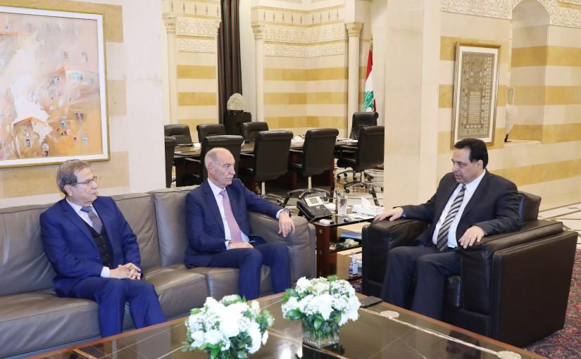 Pr Minister Hassan Diab meets Former MP Abass Hachem & Former MP Nabil Nicolas