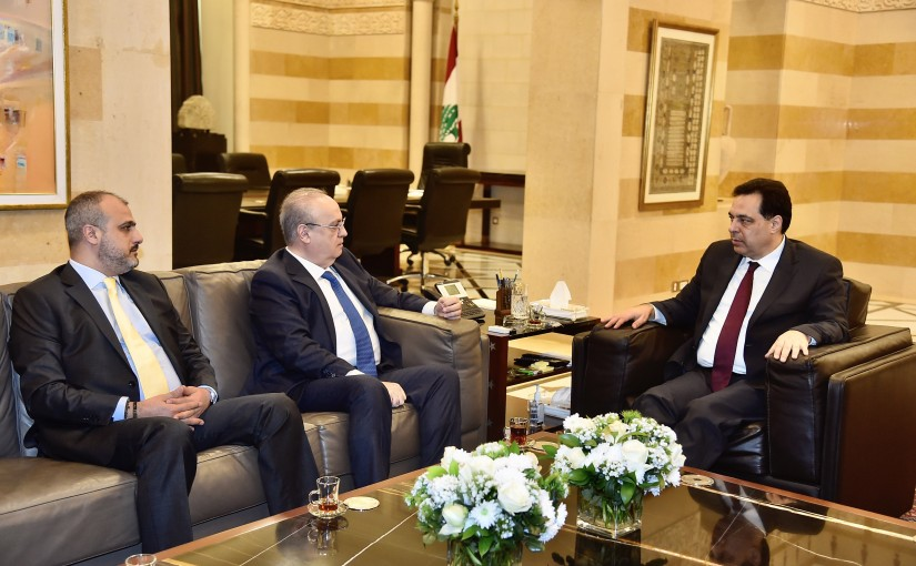 Pr Minister Hassan Diab meets Former Minister Wiam Wahab