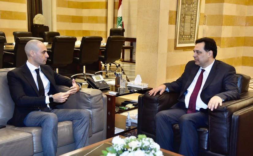 Pr Minister Hassan Diab meets Mr Bader el Khourafi