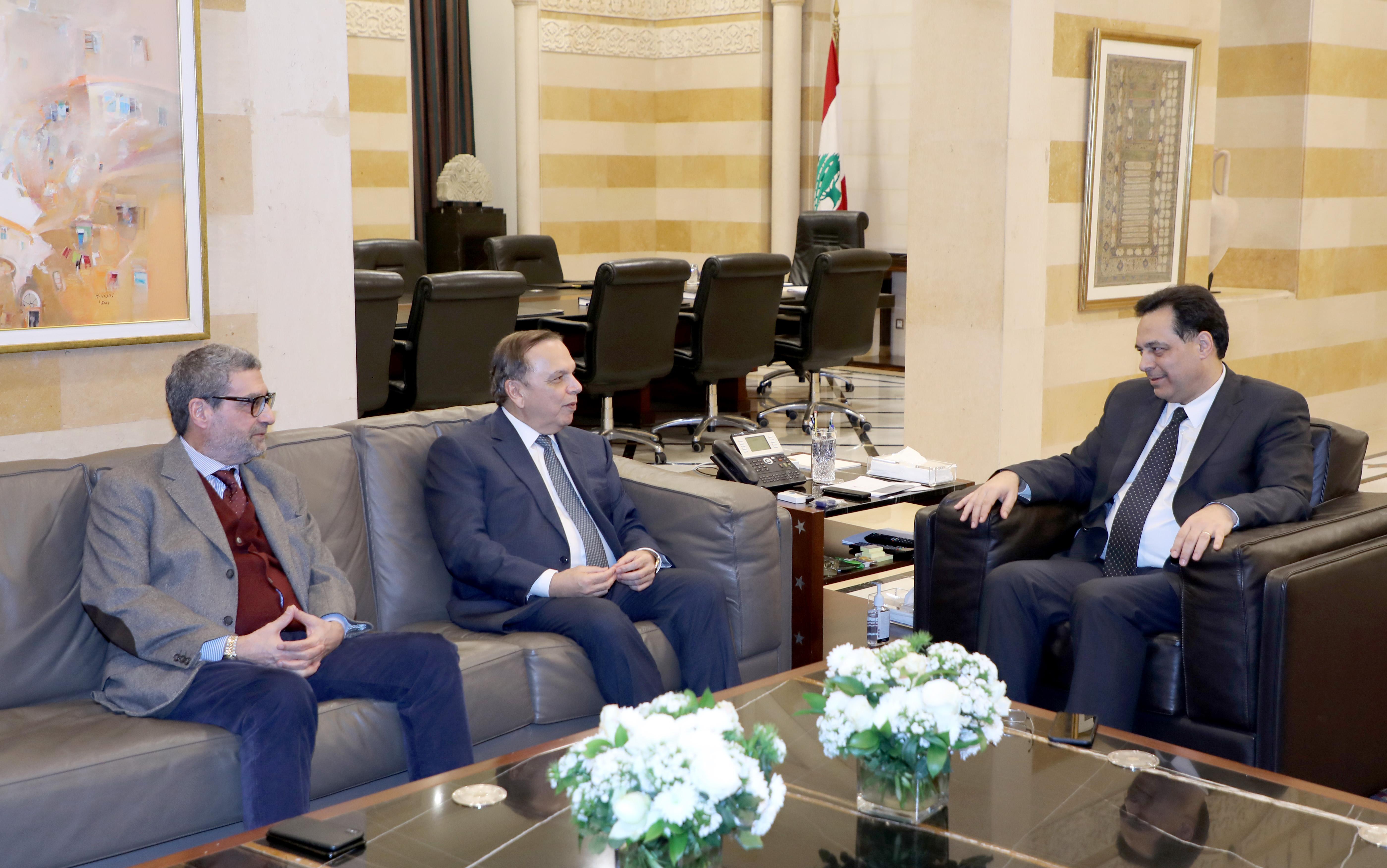 Pr Minister Hassan Diab meets Mr Maroun Helo