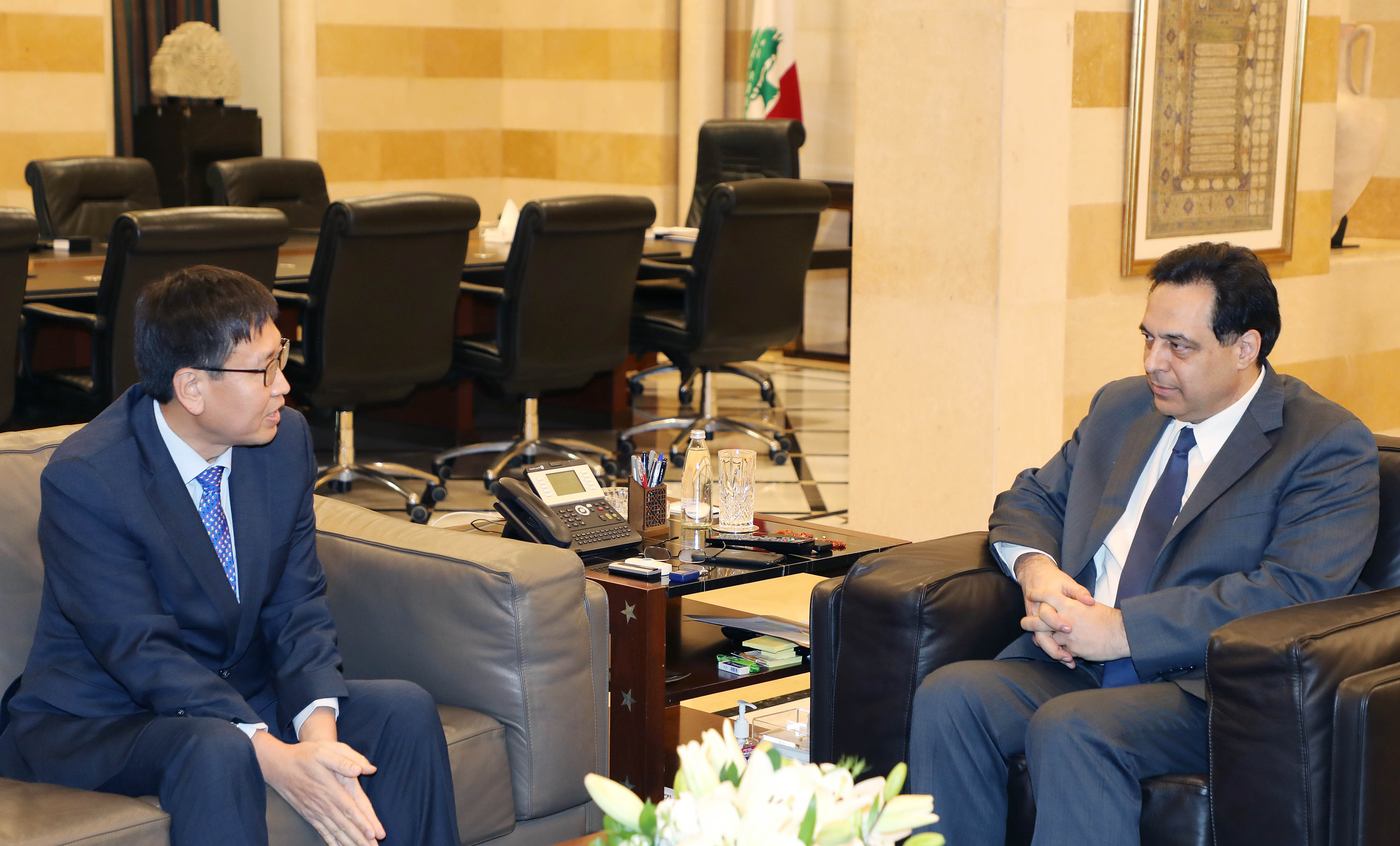 Pr Minister Hassan Diab meets South Korean Ambassador