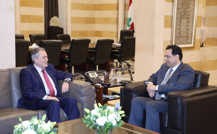 Pr Minister Hassan Diab meets Syrian Ambassador