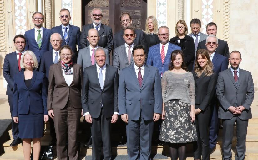 Pr Minister Hassan Diab meets a Delegation of European Ambassadors