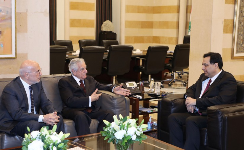 Pr Minister Hassan Diab meets a Delegation from LAU