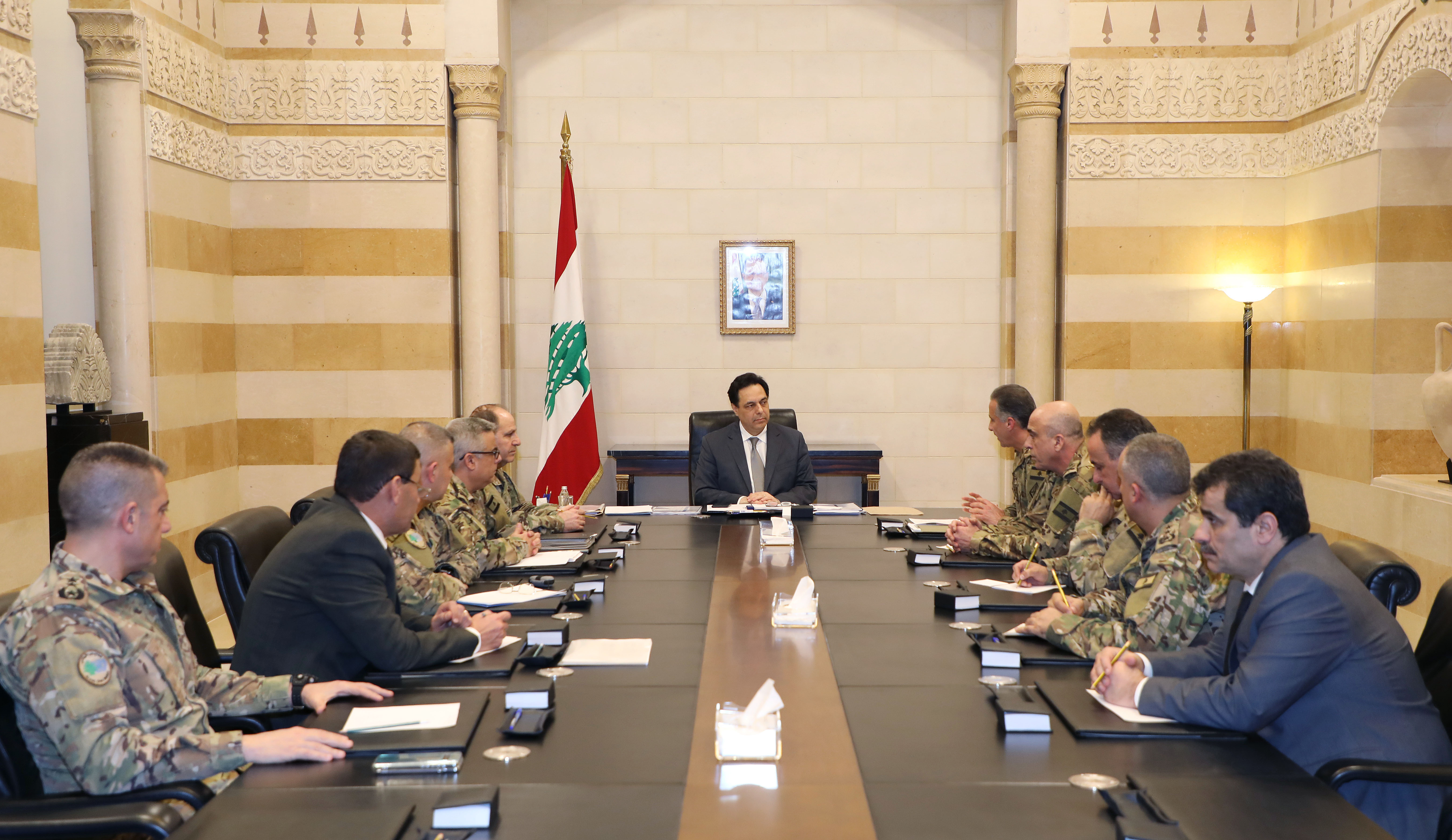 Pr Minister Hassan Diab meets a Delegation from Lebanese Army 1