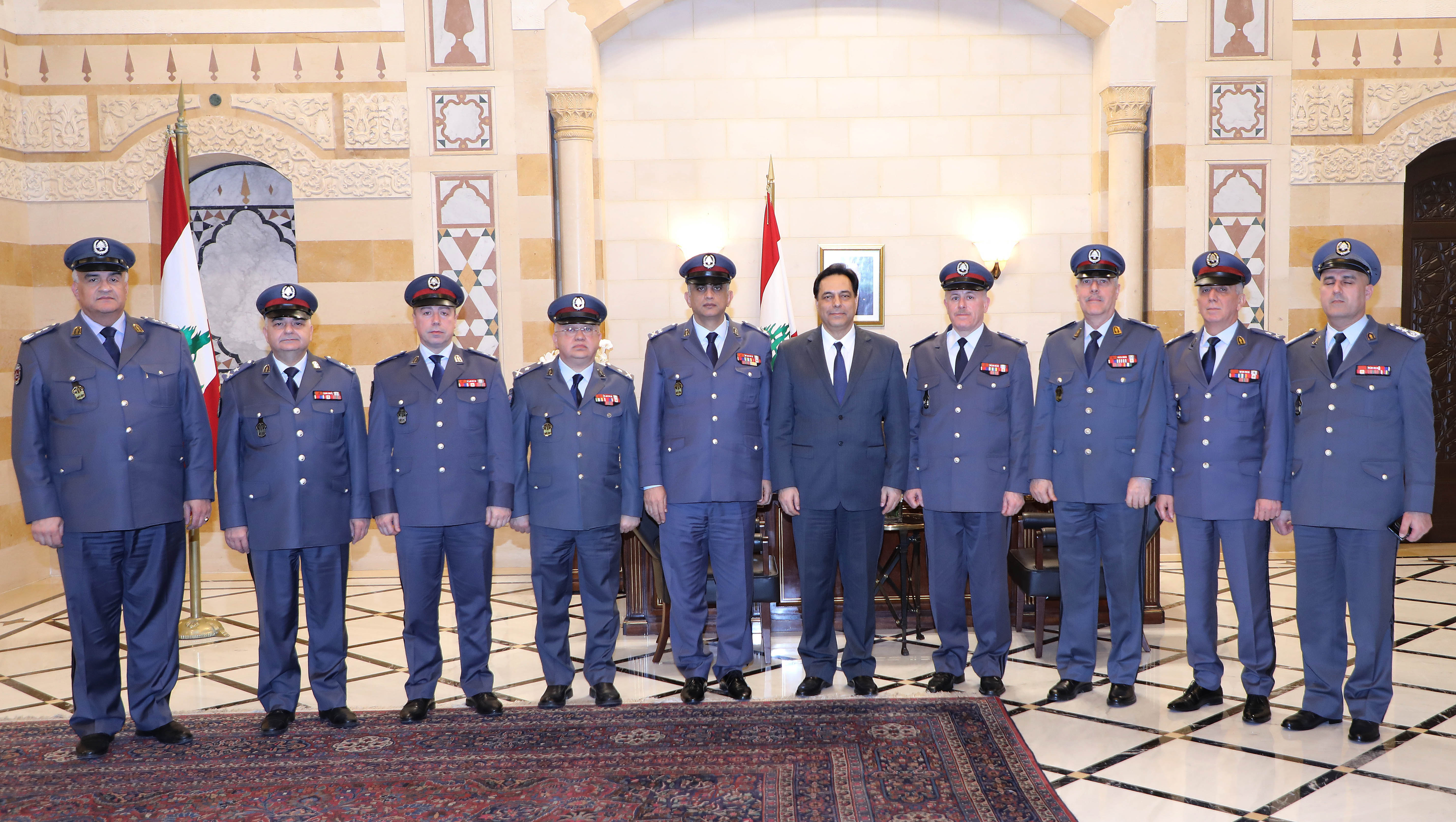 Pr Minister Hassan Diab meets a Delegation from Lebanese Security Forces