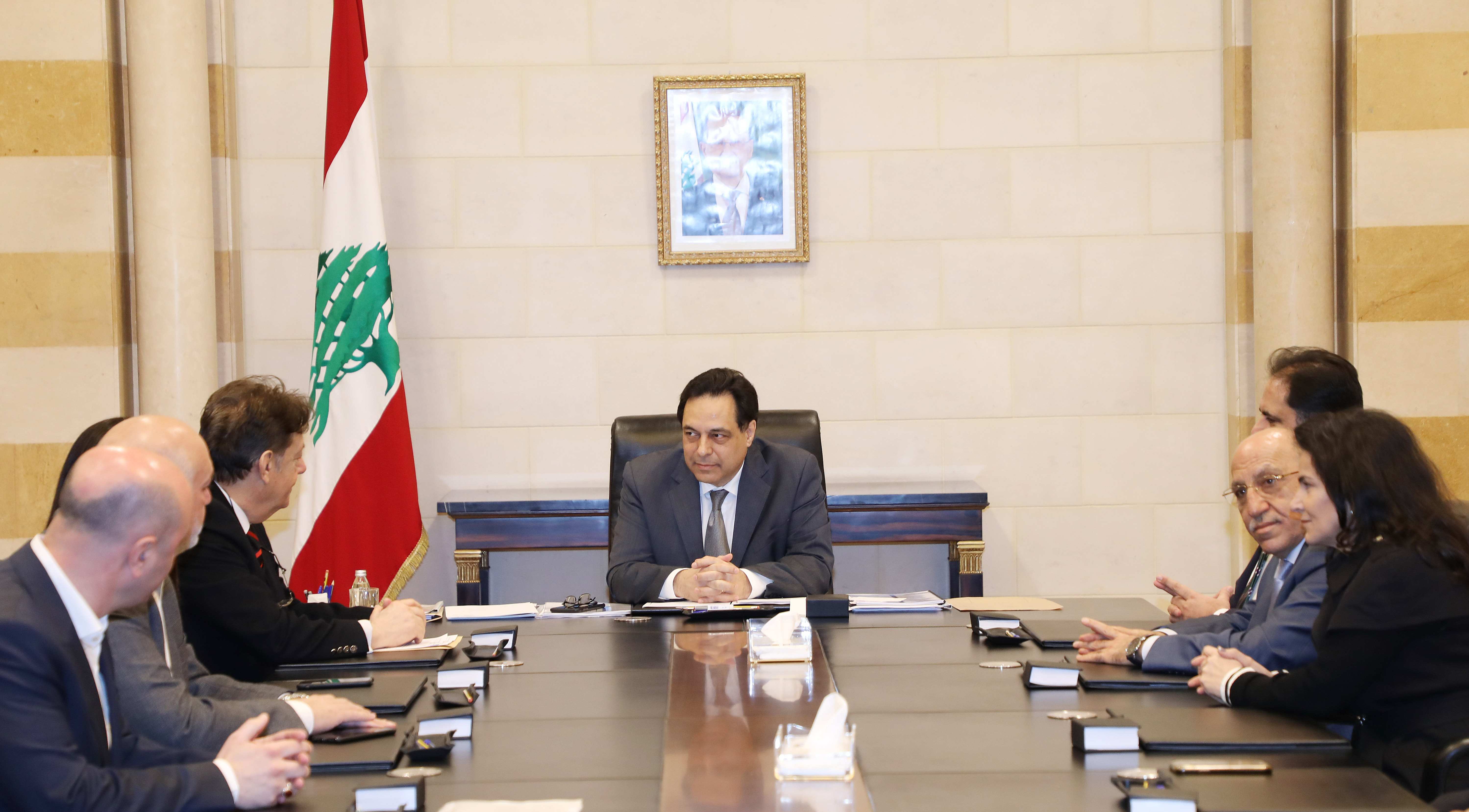 Pr Minister Hassan Diab meets a Delegation from Syndicate Hospital 1