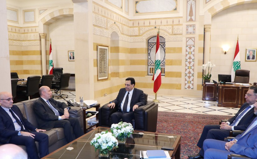 Pr Minister Hassan Diab meets a Delegation from Total Company