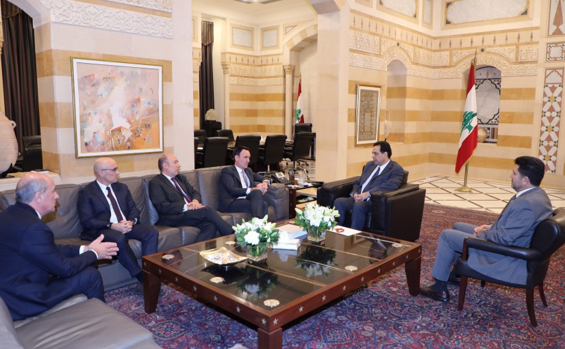 Pr Minister Hassan Diab meets a Delegation from Total
