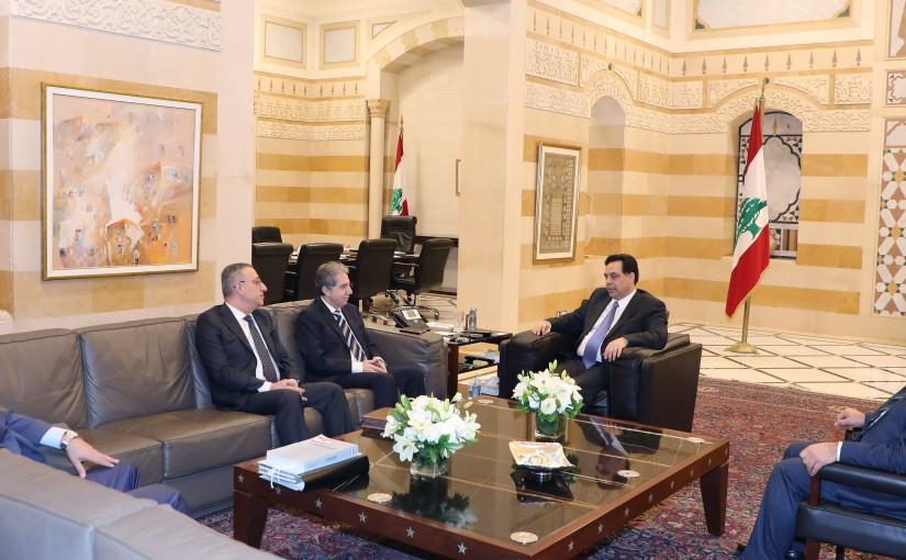 Pr Minister Saad Hariri meets Minister Ghazi Wazni with a Delegation
