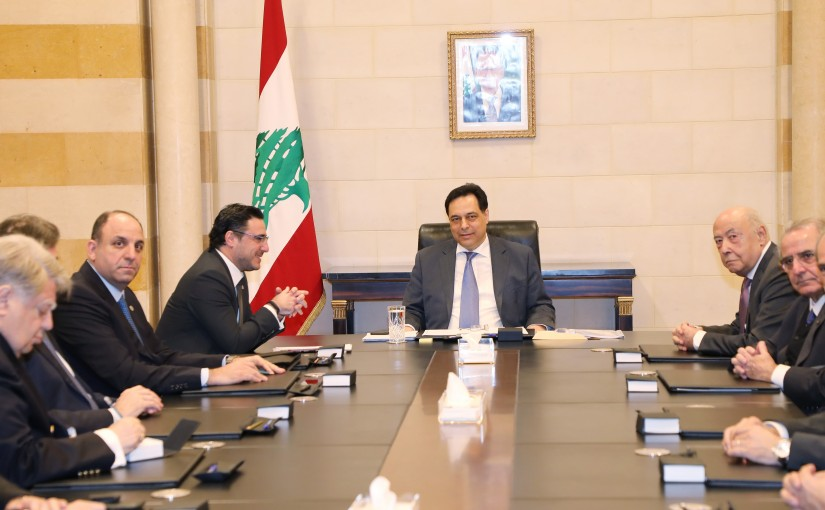 Pr Minister Saad Hariri meets a Delegation from Lebanese Busnissman 2