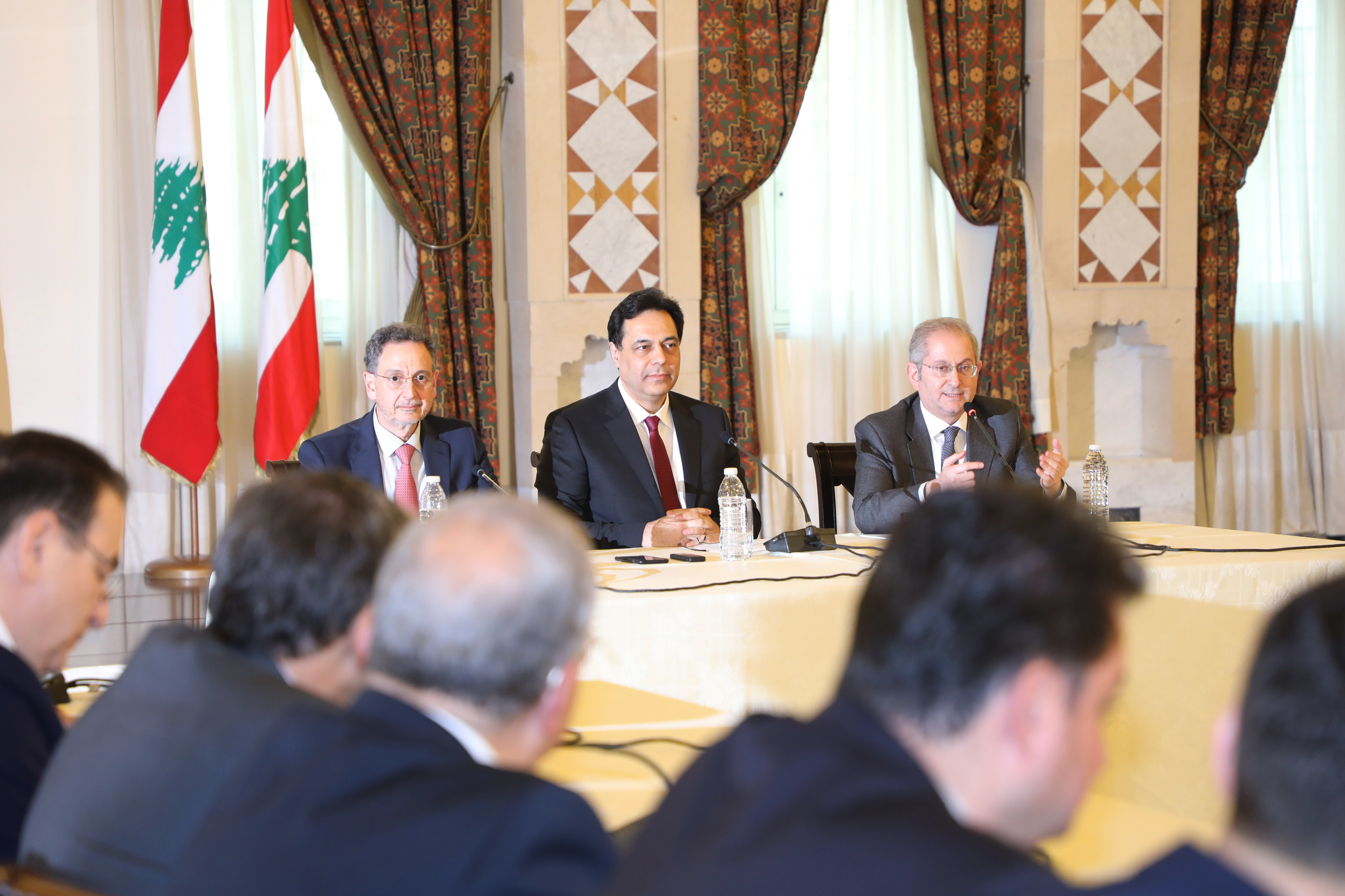 Pr Minister Saad Hariri meets a Delegation from Lebanese Traders 3