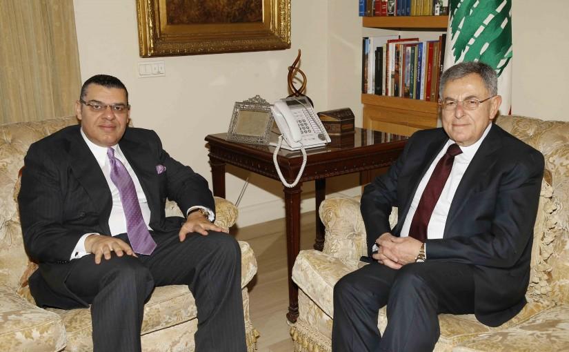 Former Pr Minister Fouad Saniora meets Egyptian Ambassador