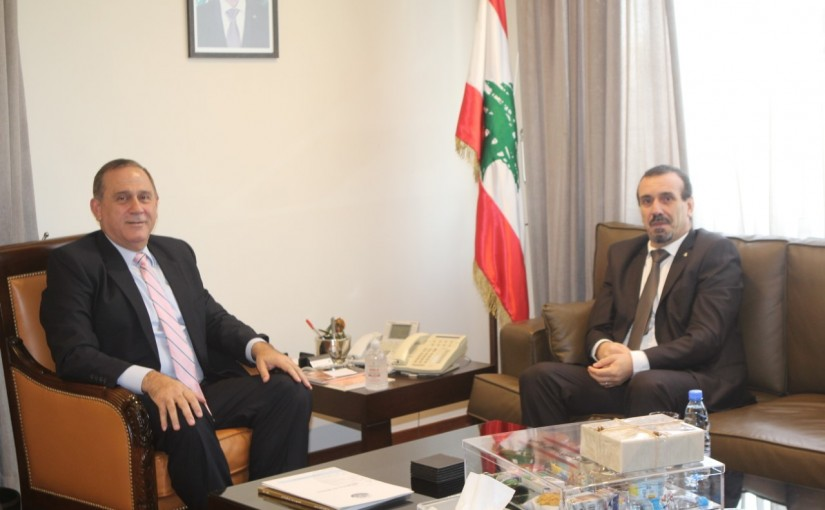 Minister Imad Habalah meets Algerian Ambassador