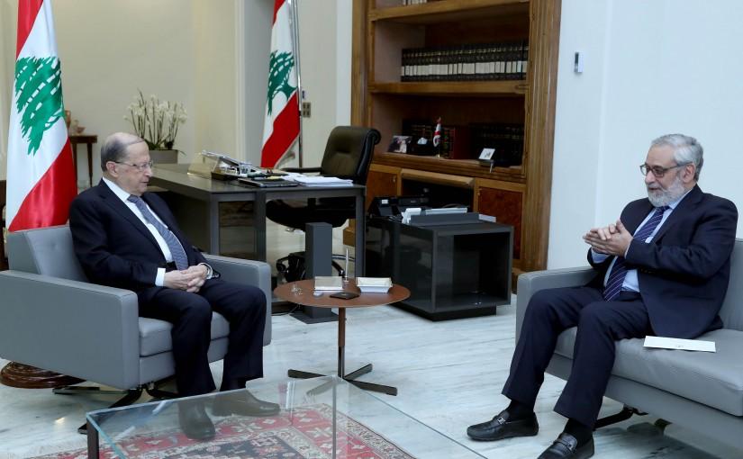 President Michel Aoun meets MP Hagop Pakradounian.