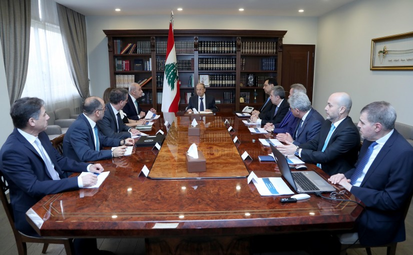 A financial economic meeting chaired by President Michel Aoun and attended by: Speaker of Parliament, Head of Government, Deputy Prime Minister, Ministers of Finance and Economy, Governor of the Bank of Lebanon and President of the Association of Bank.