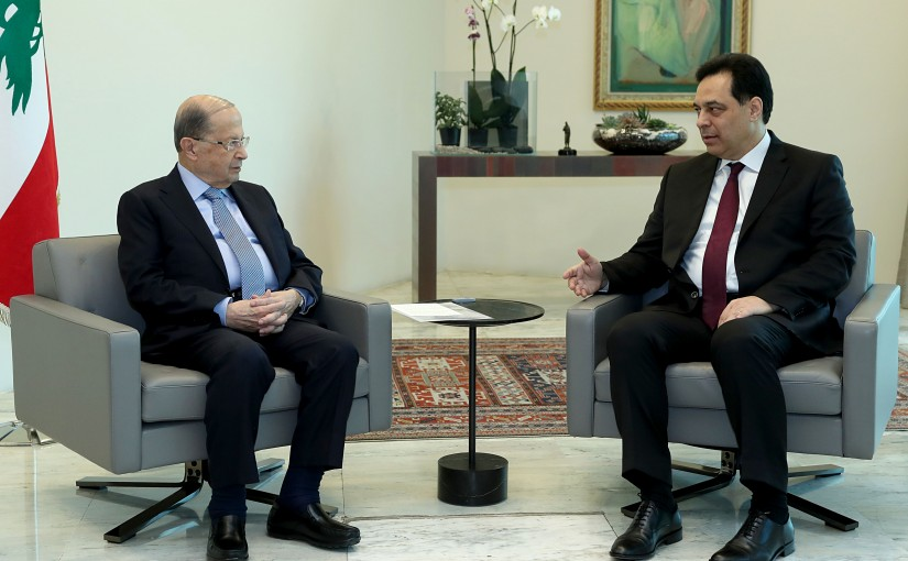 President Michel Aoun meets Prime Minister Dr. Hassan Diab.