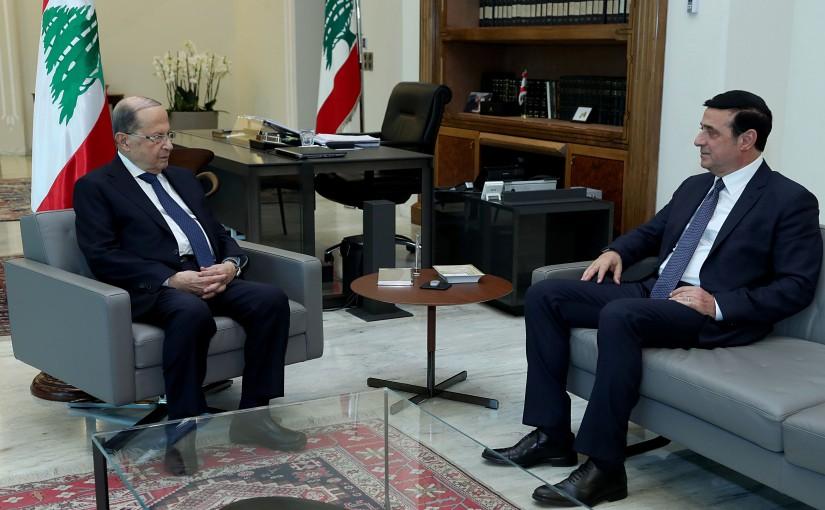 President Michel Aoun meets Minister Michel Najjar.