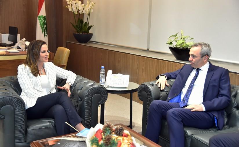 Minister Manal Abdel Samad meets British Ambassador