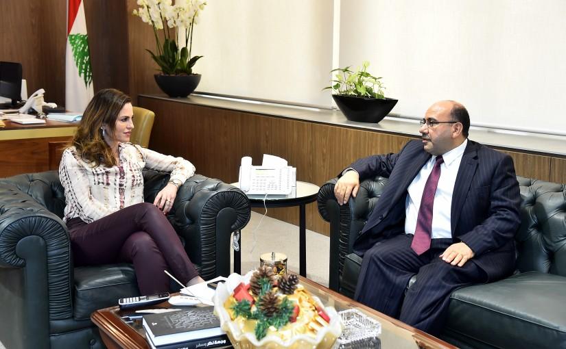 Minister Manal Abdel Samad meets Jordanian Ambassador