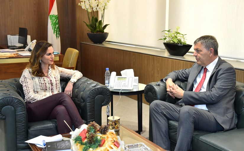 Minister Manal Abdel Samad meets Mr Phillip Lazarini