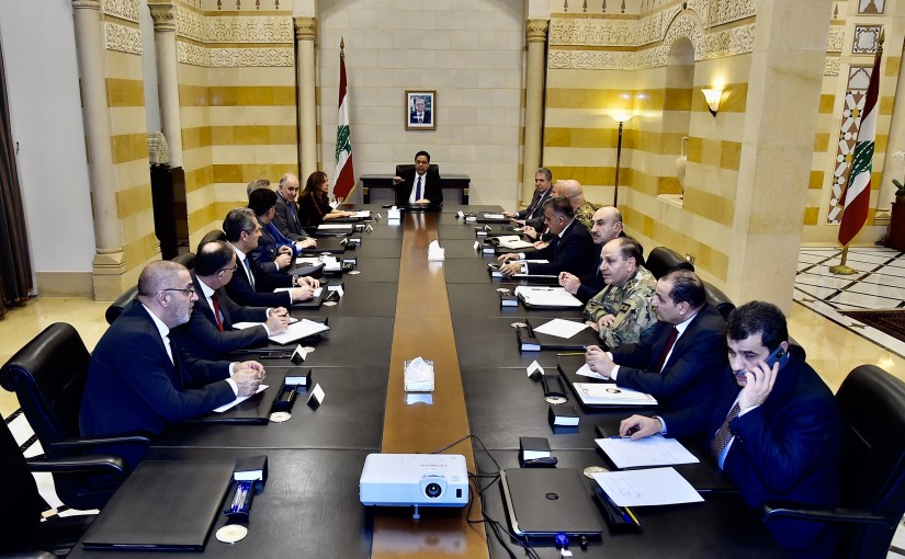 Pr Minister Hassan Diab meets a Delegation from Illegal Money Changers Committee