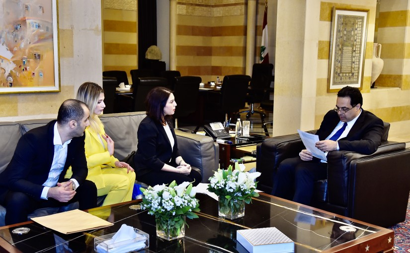 Pr Minister Hassan Diab meets a Delegation from Lebanese Customs