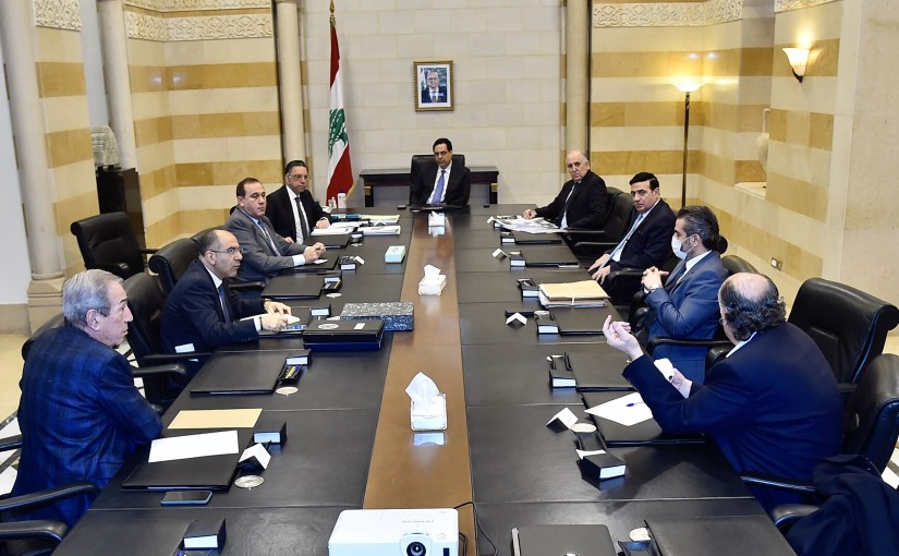 Pr Minister Hassan Diab Heading a Meeting for Environment