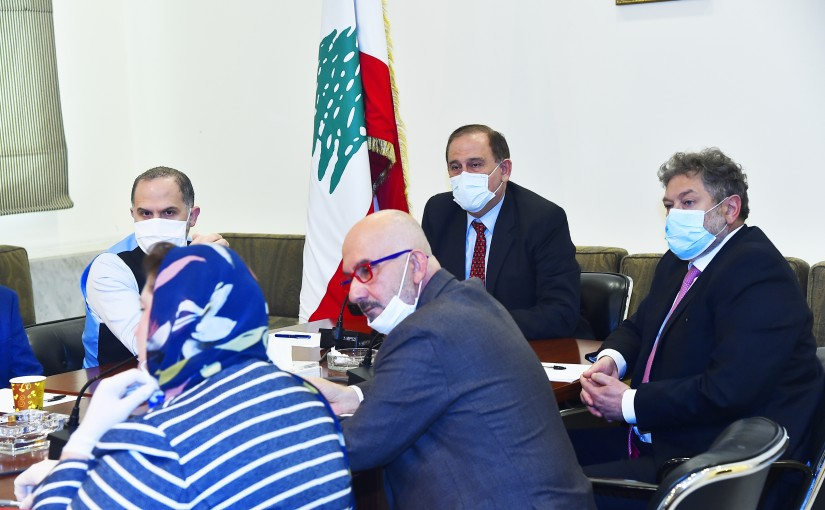 Minister Imad Habalah meets a Delegation from Lebanese Businessman