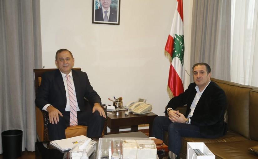 Minister Imad Habalah meets Minister Tallal Hawat