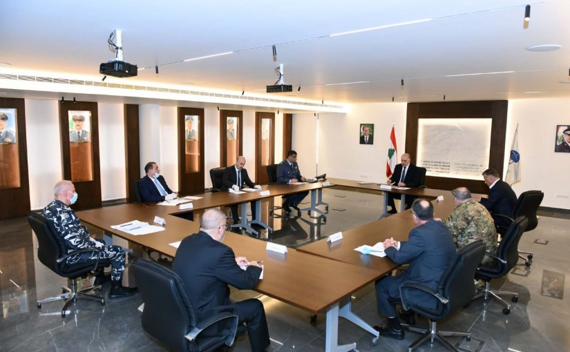 Minister Mouhamad Fehmi meets a Delegation from Lebanese Security Forces