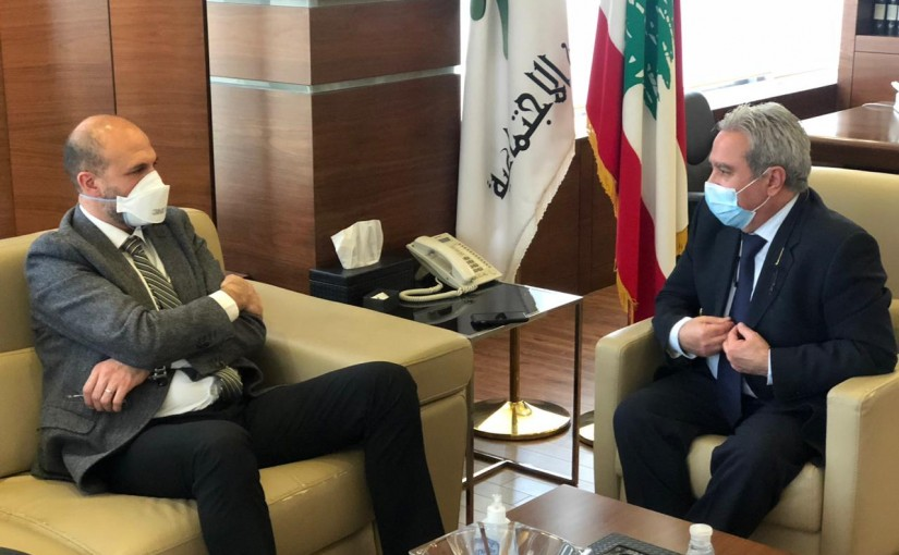 Minister Ramzi Macharafieh meets Minister Hassan Hamad