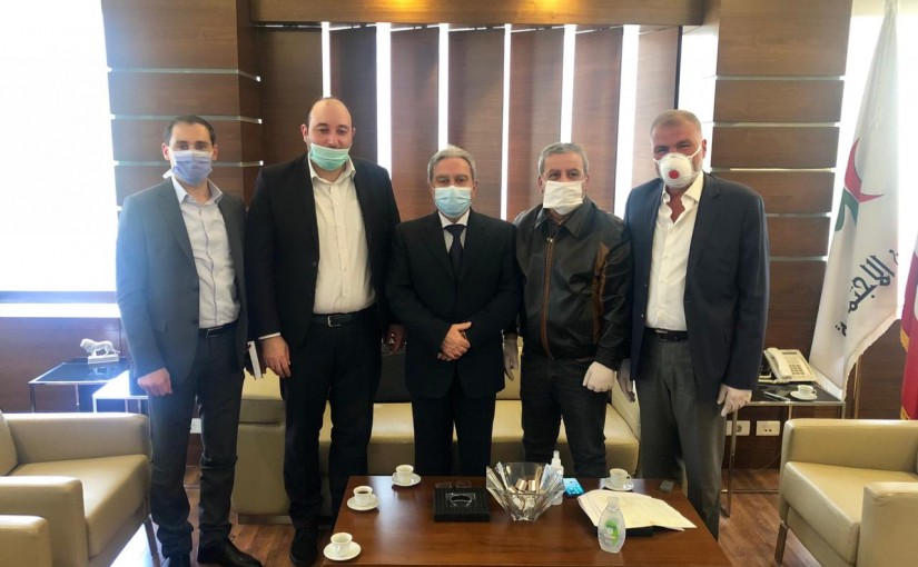 Minister Ramzi Mcharafieh meets MP Ali Bazzi with a Delegation