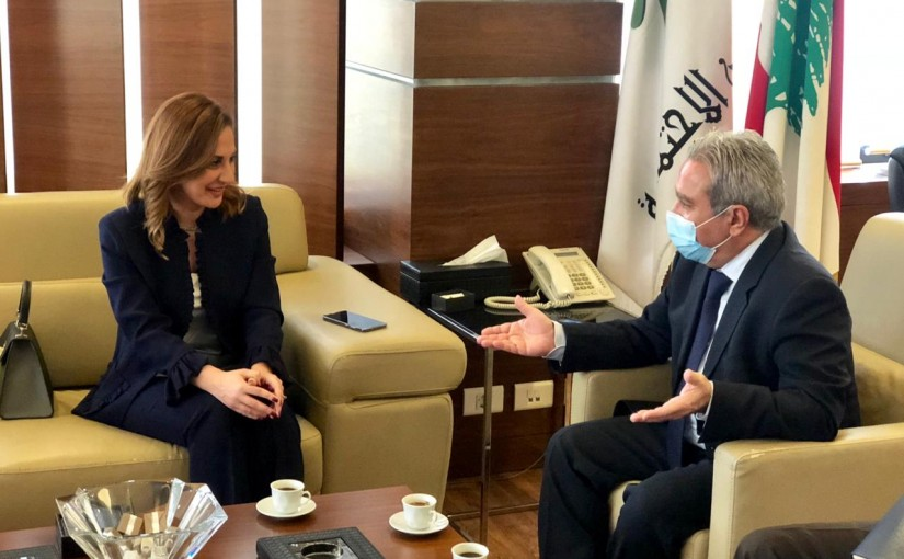 Minister Ramzi Mcharafieh meets Minister Vartineh Ohanian