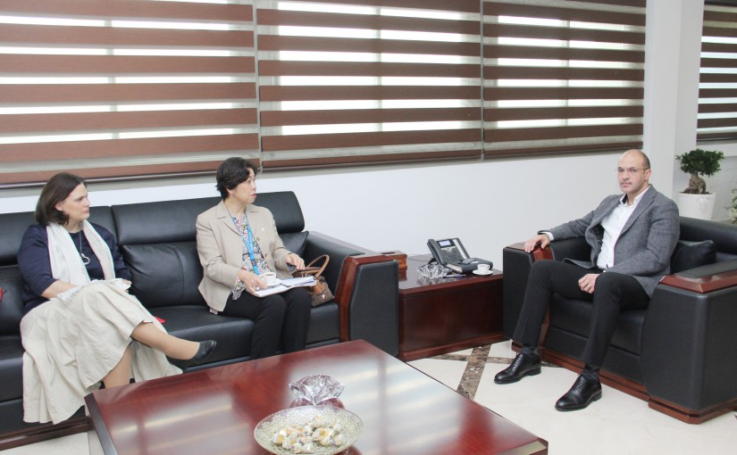 Minister Hamad Ali Hassan meets Mrs Yukie Muoko