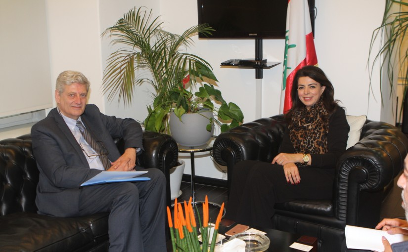Minister Ghada Shreim meets a Delegation from FAO