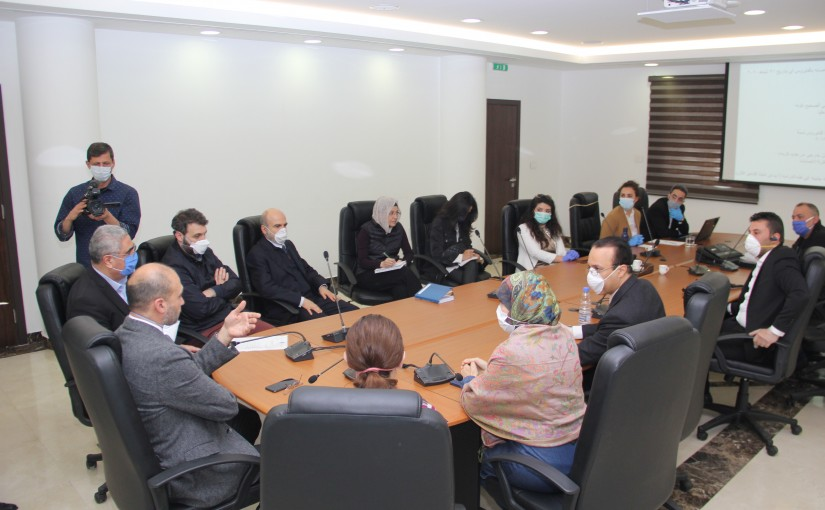 Minister Hassan Hamad meets a Delegation from Lebanese engineers