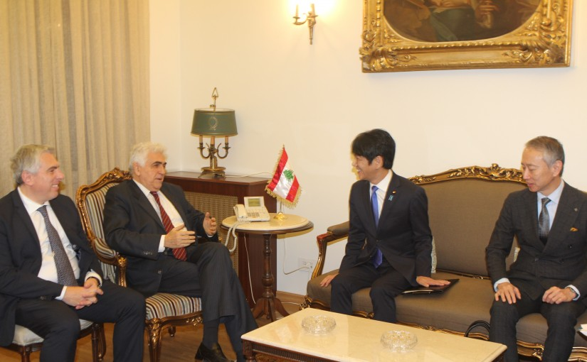 Minister Nassif Hiti meets a Japanese Delegation