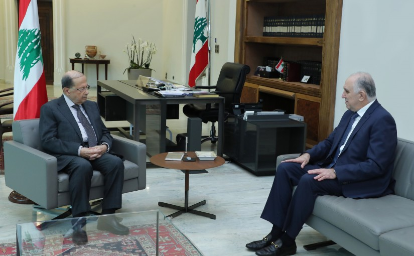 President Michel Aoun Meets Minister Mohamad Fehmi