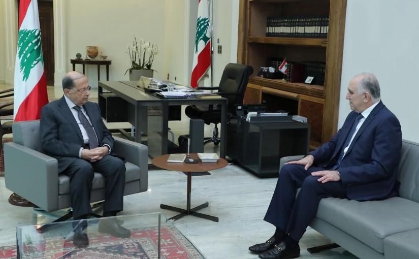 President Michel Aoun Meets Minister Mohamad Fehmi