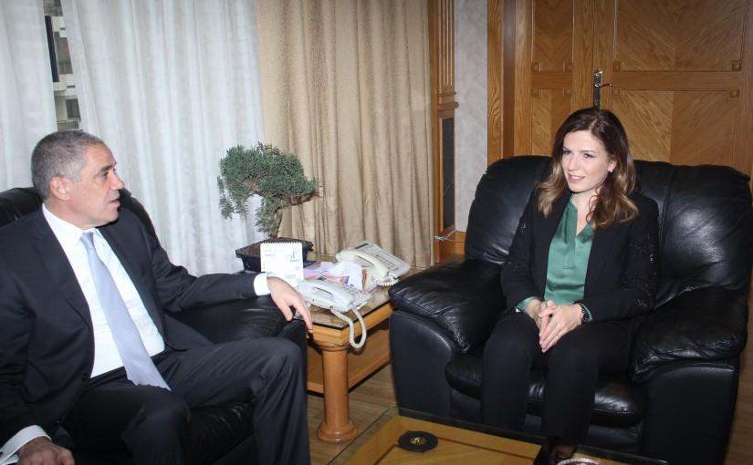 Minister Lamya Yamine meets European Ambassador