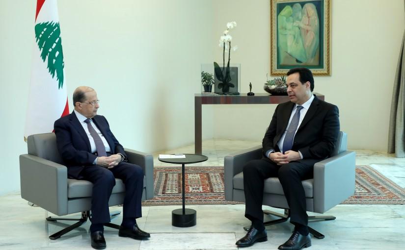 President Michel Aoun Meets Prime Minister Hassan Diab