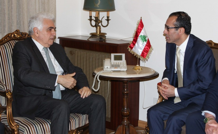 Minister Nassif Hiti meets Mr khaled Khayri