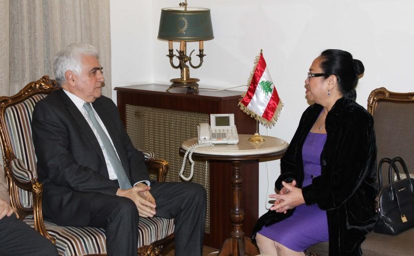 Minister Nassif Hiti meets Philippines Ambassador