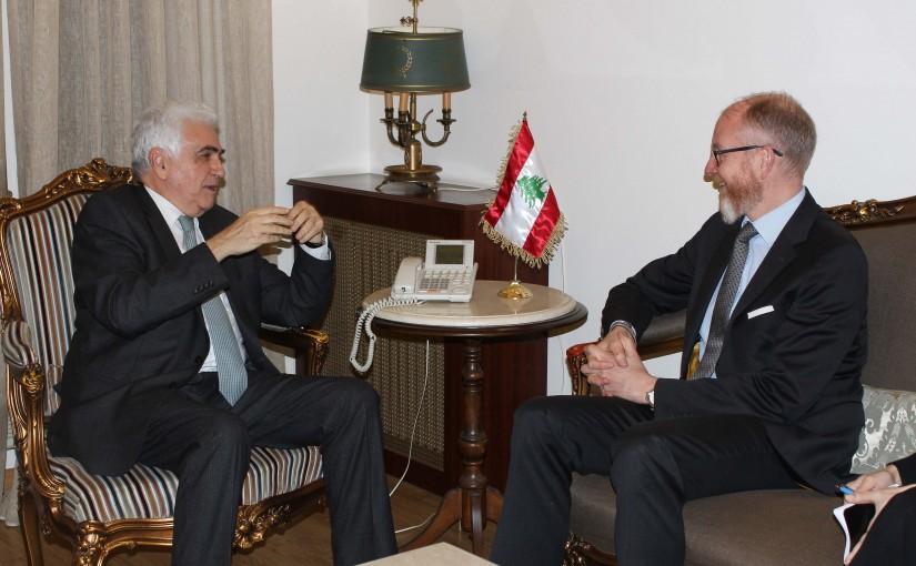 Minister Nassif Hiti meets Sweden Ambassador