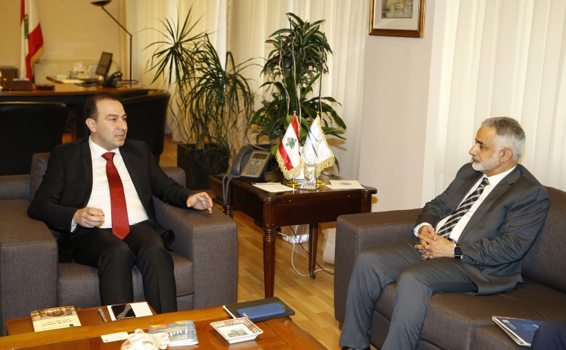 Minister Abass Morthada meets Mr Hamad el Houmaimy