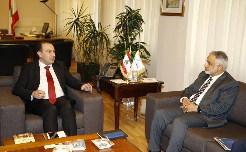 Minister Abass Morthada meets Mr Hamad el Houmaimy