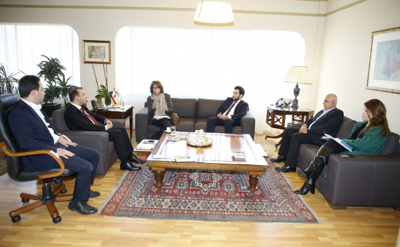 Minister Abass Morthada meets Mrs Maya De Freij with a Delegation
