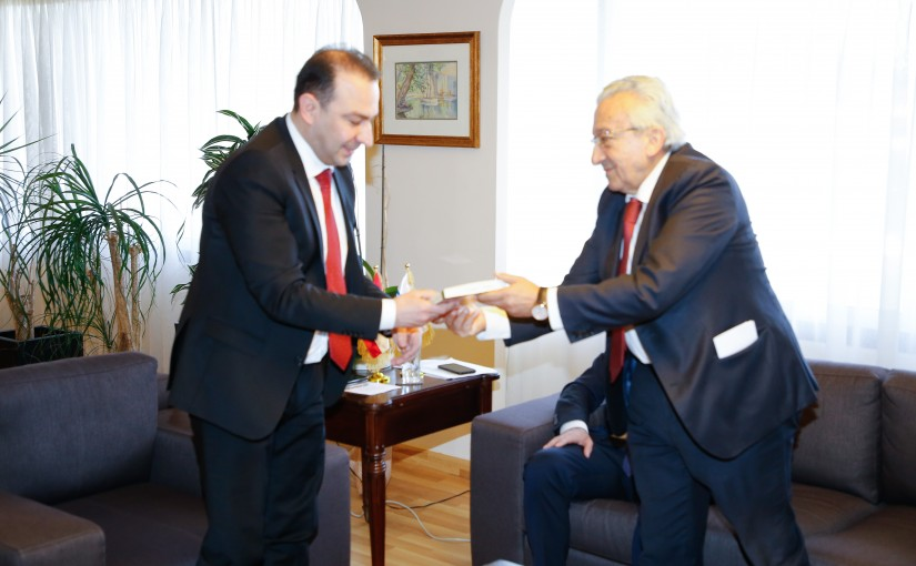 Minister Abass Morthada meets Mr Sarkis Abou Zeid